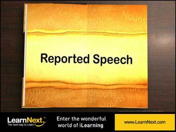 Animated video Lecture for Reporting Verbs - Usage and Kinds of Sentences