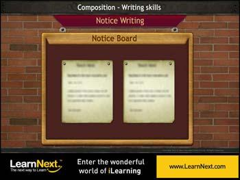 Animated video Lecture for Notice Writing - Format