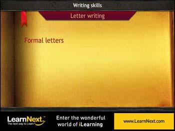 Animated video Lecture for Formal letters - Format and Sample