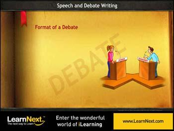Animated video Lecture for Debate Writing - Format and Sample