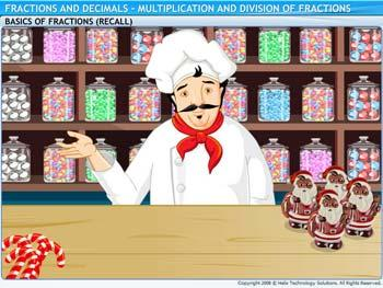 Animated video Lecture for Multiplication and Division of Fraction