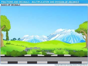 Animated video Lecture for Multiplication and Division on Decimals