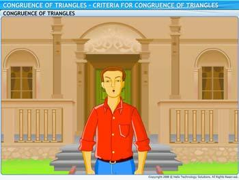Animated video Lecture for Criteria for Congruence of Triangles