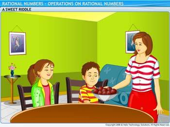 Animated video Lecture for Operations on Rational Numbers