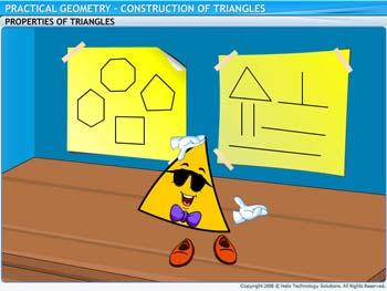 Animated video Lecture for Construction of Triangles