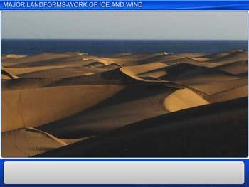 Animated video Lecture for Major Landforms - Work of Ice and Wind