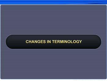 Animated video Lecture for Changes in Terminology