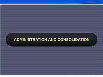 Animated video Lecture for Administration and Consolidation