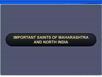 Animated video Lecture for Important Saints of Maharashtra and North India