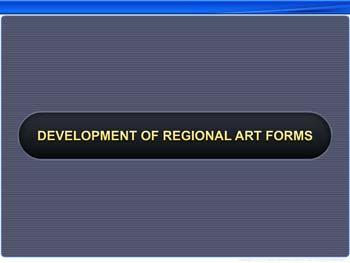 Animated video Lecture for Development of Regional Art Forms