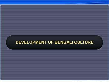 Animated video Lecture for Development of Bengali Culture