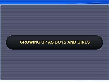 Animated video Lecture for Growing up as Boys and Girls