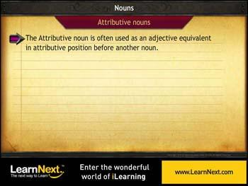 Animated video Lecture for Attributive Noun