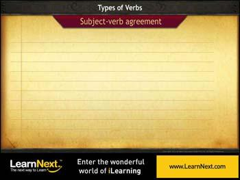 Animated video Lecture for Subject verb agreement