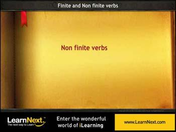 Animated video Lecture for Non finite verbs - infinitives