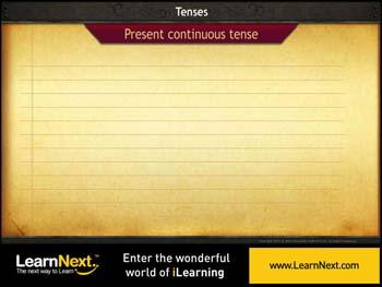 Animated video Lecture for Present Continuous Tense