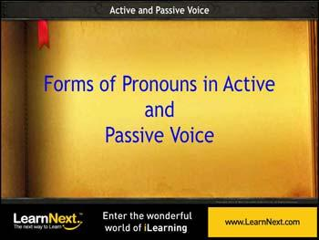 Animated video Lecture for Change in Pronouns - Voice