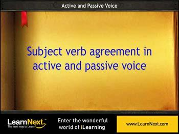 Animated video Lecture for Subject Verb Agreement - Passive
