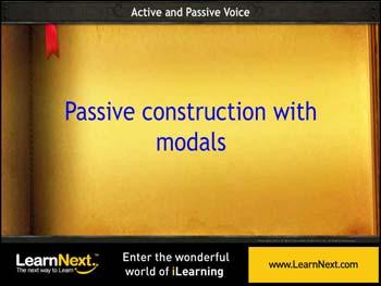 Animated video Lecture for Passive Construction with Modals