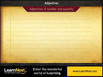 Animated video Lecture for Types of Adjectives - Usage
