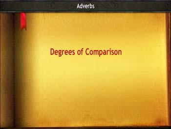 Animated video Lecture for Degrees of Comparison - Adverbs