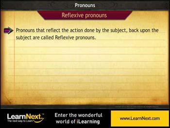 Animated video Lecture for Reflexive Pronouns