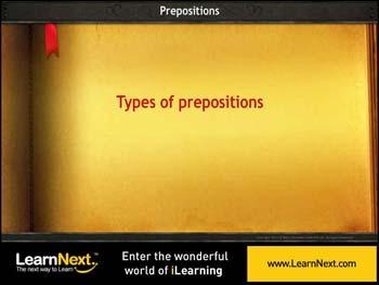 Animated video Lecture for Prepositions of Place and Position
