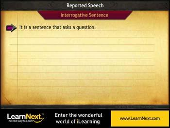 Animated video Lecture for Interrogative Sentences - Reported Speech