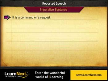 Animated video Lecture for Imperative Sentences - Reported Speech