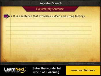 Animated video Lecture for Exclamatory Sentences - Reported Speech