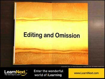 Animated video Lecture for Editing and Omission