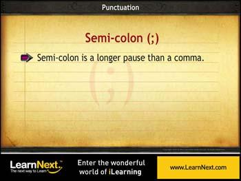 Animated video Lecture for Usage of Semi Colon