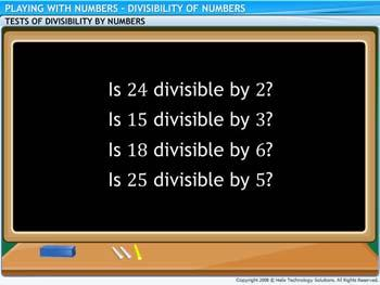 Animated video Lecture for Divisibility of Numbers