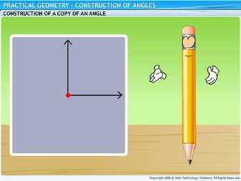 Animated video Lecture for Construction of Angles