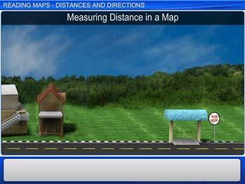 Animated video Lecture for Reading Maps - Distances and Directions