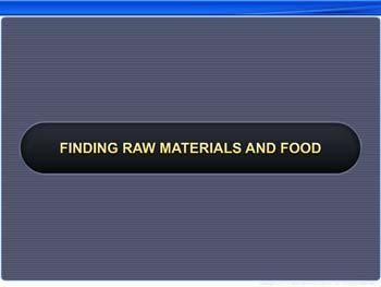 Animated video Lecture for Finding Raw Materials and Food