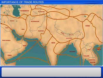 Animated video Lecture for Importance of Trade Routes