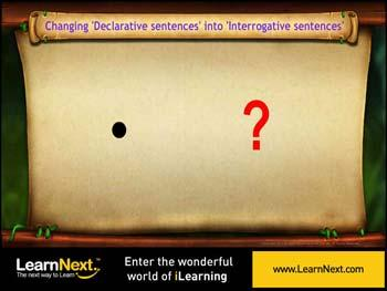 Animated video Lecture for Conversion of Declarative sentences into Interrogative sentences