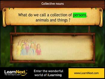 Animated video Lecture for Collective Nouns