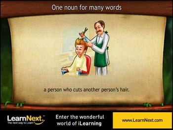 Animated video Lecture for Replacing one noun for many words