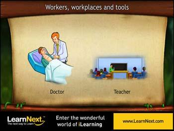 Animated video Lecture for Workers, workplaces and tools