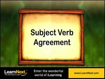 Animated video Lecture for Introduction to Subject verb agreement