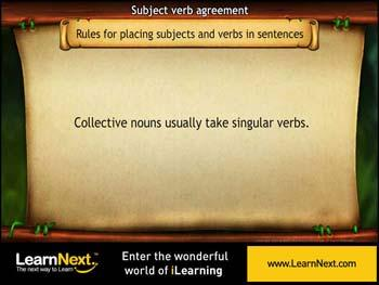 Animated video Lecture for placing subjects and verbs in sentences - 1