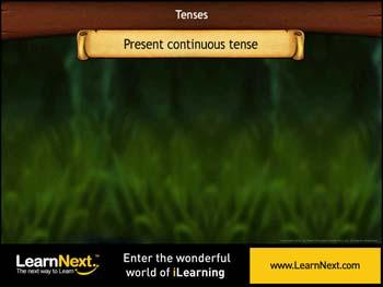 Animated video Lecture for Verbs in Present Continuous Tense