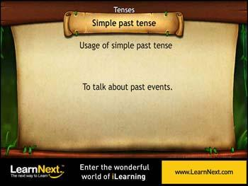 Animated video Lecture for Simple Past Tense - Usage
