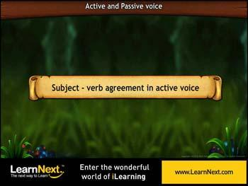 Animated video Lecture for Subject Verb Agreement in Active and Passive Voice