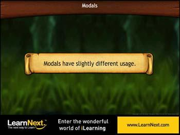 Animated video Lecture for Modals - Usage