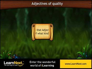 Animated video Lecture for Adjectives of Quality