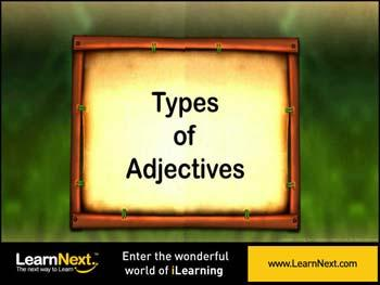 Animated video Lecture for Types of Adjectives - Introduction