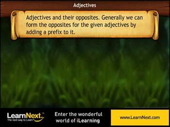 Animated video Lecture for Adjectives and Opposites - Prefix